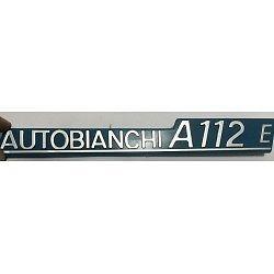 "AUTOBIANCHI A112, FREGIO LOGO ""AUTOBIANCHI A112 E"" BLU"