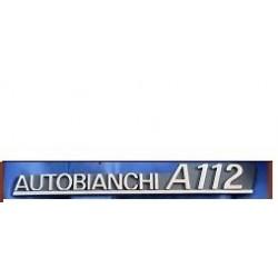 """AUTOBIANCHI A112, FREGIO LOGO """"AUTOBIANCHI A112 """"NERO"""