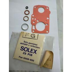 Fiat 600 D -  850 kit GUARNIZIONI CARBURATORE Solex 28 PIB